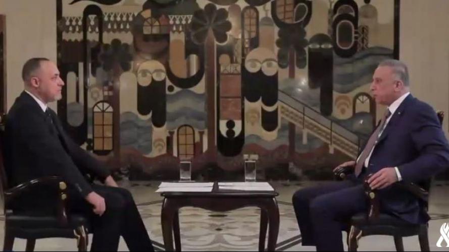الكاظمي متحدثا الى قناة العراقية الرسمية