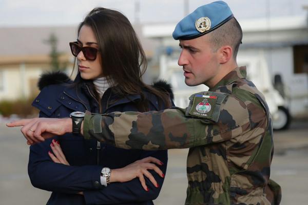 دانييلا رحمة سفيرة الوحدة الفرنسية في يونيفل لبنان