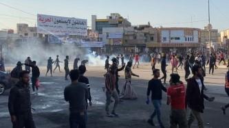 اشتباكات في ساحة الحبوبي وسط مدينة الناصرية