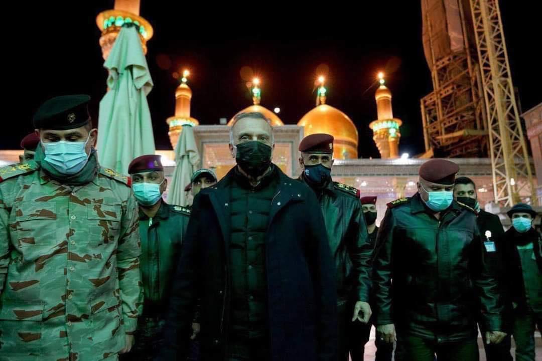 الكاظمي متفقدا فجر الثلاثاء الاجراءات الامنية لحماية المشاركين باحياء وفاة الامام الكاظم في بغداد
