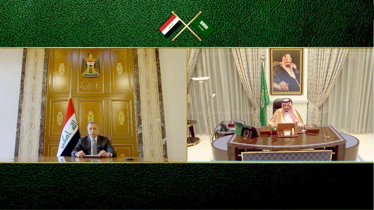 السعودية نيوز |  الملك سلمان والكاظمي اتفقا على التعاون لتعزيز الأمن في المنطقة