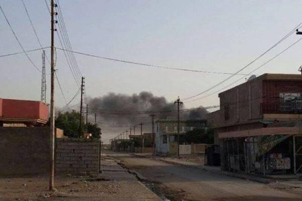 ناحية السعدية في محافظة ديالى بعد انسحاب القوات العراقية منها