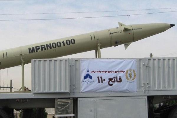 احد المنجزات الصاروخية الايرانية خلال عرض عسكري