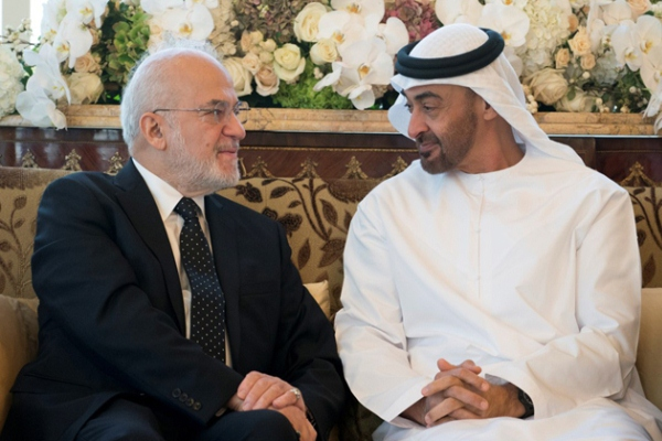 الجعفري ومحمد بن زايد يبحثان التعاون الامني وإعمار العراق