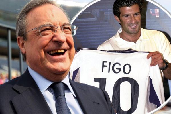 انتقل فيغو إلى ريال مدريد بعدما دفع النادي الملكي الشرط الجزائي في عقده مع برشلونة والمقدر بـ 60 مليون يورو