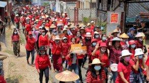 قتيل إثر إطلاق الجيش البورمي النار على تظاهرة للطاقم الطبي