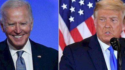 الرئيسان الأميركيان السابق دونالد ترمب (يمين) والحالي جو بايدن